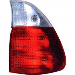 Faro fanale posteriore sinistro BMW X5 1999-2003 rosso bianco esterno
