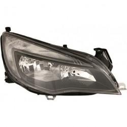Faro fanale anteriore destro OPEL ASTRA J 2012 2013 2014 2015 5 porte e Wagon alogeno H7 cromato con motorino e luce diurna LED