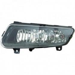 Fendinebbia sinistro VW POLO 6R 2009-2014 nero lampade H8+P21W, include luce di posizione diurna