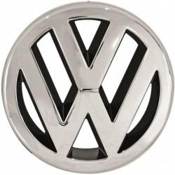 Logo emblema marchio stemma anteriore VW GOLF II 1983-1991 cromato, anche per VW GOLF III 1991-1997, JETTA 1984-1991, POLO 1994-1999, POLO VARIANT CLASSIC e CADDY 1995-2004, VENTO 1992-1998, PASSAT 1993-1997, T4 TRANSPORTER 1990-2003