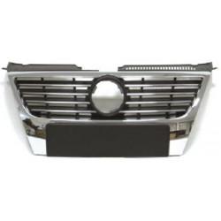 Calandra griglia VW PASSAT 3C 2005-2010 non sensori parcheggio, listelli cromati con bordo cromato
