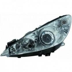 Faro fanale proiettore anteriore XENON HID sinistro PEUGEOT 308 tutte, 2007-03/2011, D1S+H1