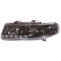 Set fari fanali proiettori anteriori TUNING per SEAT LEON e TOLEDO 1999-2005 neri H1+H1 con luci diurne DRL DAYLINE LED