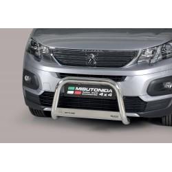 Bullbar anteriore OMOLOGATO PEUGEOT RIFTER mwb 2018-  acciaio INOX mod Medium anche nero