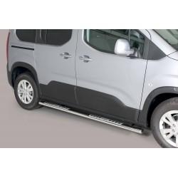 Coppia set pedane laterali TUNING SUV PEUGEOT RIFTER mwb 2018- acciaio INOX mod Design anche nero