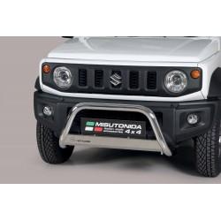 Bullbar anteriore OMOLOGATO SUV SUZUKI JIMNY 2018-  acciaio INOX mod Medium