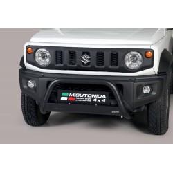 Bullbar anteriore OMOLOGATO SUV SUZUKI JIMNY 2018-  acciaio INOX mod Medium colore NERO opaco