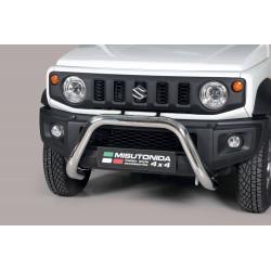 Bullbar anteriore OMOLOGATO SUV SUZUKI JIMNY 2018-  acciaio INOX mod Super