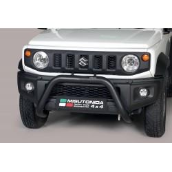 Bullbar anteriore OMOLOGATO SUV SUZUKI JIMNY 2018-  acciaio INOX mod Super colore NERO opaco