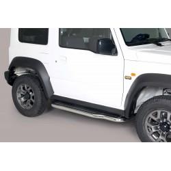 Coppia set pedane sottoporta laterali TUNING SUV SUZUKI JIMNY 2018- acciaio INOX