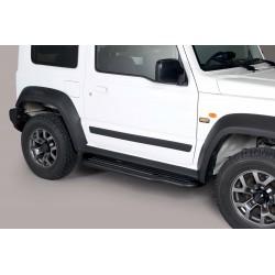Coppia set pedane sottoporta laterali TUNING SUV SUZUKI JIMNY 2018- acciaio INOX colore NERO opaco