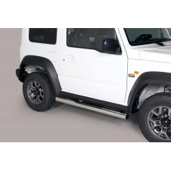 Coppia set pedane sottoporta laterali TUNING SUV SUZUKI JIMNY 2018- acciaio INOX modello Grand