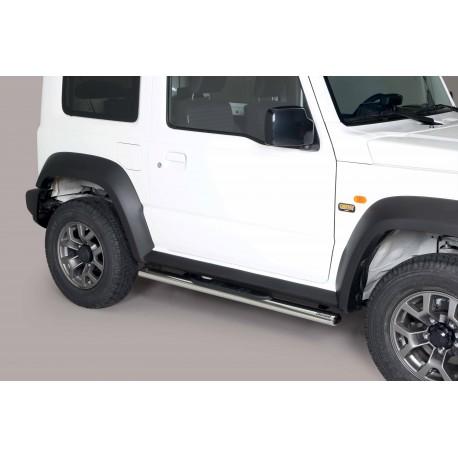 Coppia set pedane sottoporta laterali TUNING SUV SUZUKI JIMNY 2018- acciaio INOX modello Grand ovali