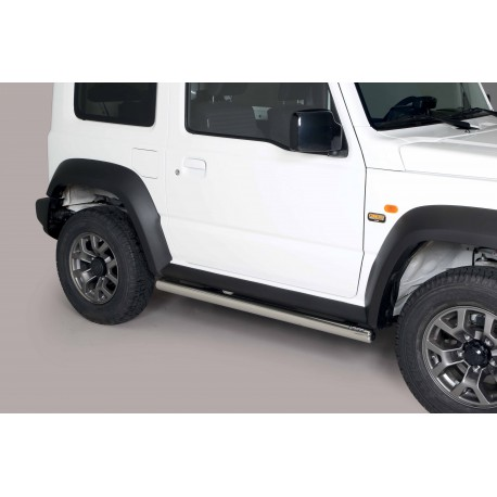 Coppia set pedane tubi protezione sottoporta laterali TUNING SUV SUZUKI JIMNY 2018- acciaio INOX