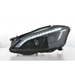 Coppia set fari fanali anteriori TUNING Xenon MERCEDES ClasseS W221 2005 2006 2007 2008 2009 neri D1S luce diurna Lightbar LED f