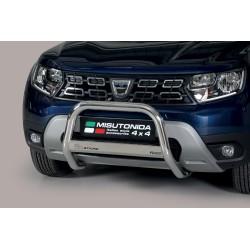 Bullbar anteriore OMOLOGATO SUV DACIA DUSTER 2018-  acciaio INOX mod Medium anche nero opaco