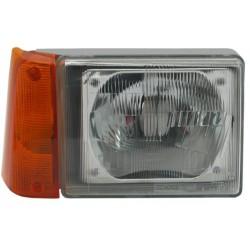 Faro fanale proiettore anteriore destro FIAT PANDA 1986-2003 H4 freccia arancio per regolazione elettrica