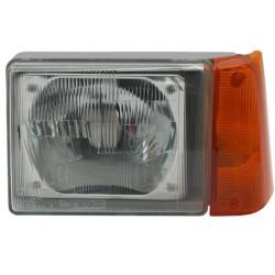 Faro fanale proiettore anteriore sinistro FIAT PANDA 1986-2003 H4 freccia arancio per regolazione elettrica