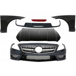 Kit estetico sportivo look AMG TUNING per MERCEDES CLS W218 2011-2015 berlina, con paraurti anteriore cofano parafanghi diffusor