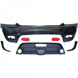 TUNING paraurti posteriore MINI R56 06-10 look Sport JCW no Cooper S completo di diffusore, catarifrangenti ed accessori come in foto