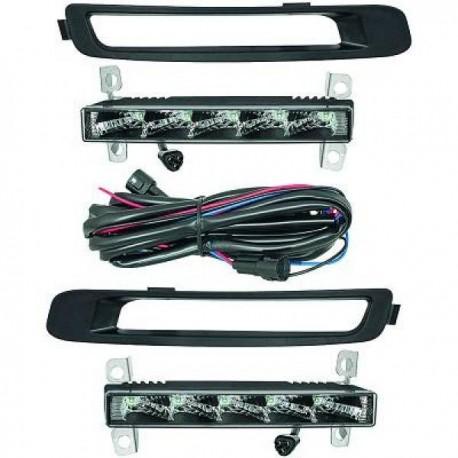 Set faretti luci diurne  anteriori TUNING MINI R55 R56 R57 3 porte Cabrio Clubman 06-10 DRL LED