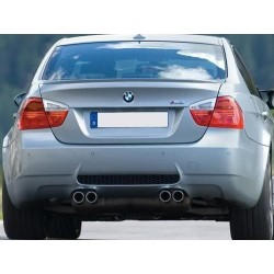 Paraurti posteriore TUNING BMW Serie 3 E90 berlina 2005-2011 anche LCI verniciabile look M3, per sensori per due doppi scarichi -00--00-