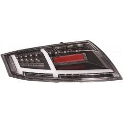 Set fari fanali posteriori TUNING per AUDI TT freccia dinamica 2006-2014 LED neri