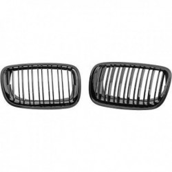 Calandra griglia radiatore anteriore TUNING BMW X5 E70 X6 E71 07-13 anche LCI M-look nera opaca doppio listello