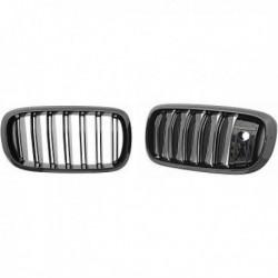 Calandra griglia radiatore anteriore TUNING BMW X5 F15 X6 F16 13-18 anche LCI M-look nera opaca doppio listello
