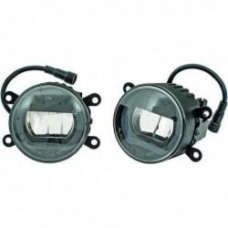 Set coppia fendinebbia TUNING con luce diurna DRL LED omologati E4 diametro 90mm