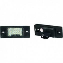 Set luce targa TUNING LED VW TOUAREG 02-10 TIGUAN 07-16 GOLF V 03-08 GOLF V VI VARIANT 07-09 PASSAT 00-05 PORSCHE CAYENNE 03-07