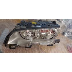 BMW Serie3 E46 Coupè Cabrio 99-01 faro anteriore sx alogeno titanio oem 63 12 6 908 223 BOSCH 0301157203