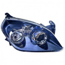 Faro fanale proiettore anteriore destro OPEL TIGRA 2004-2009 DEPO H7+H1 per regolazione elettrica, nero, versione Sport