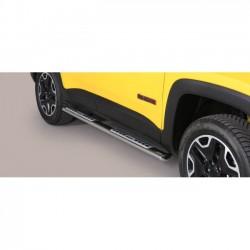 Coppia set pedane protezione sottoporta laterali TUNING SUV JEEP RENEGADE 2014 2015 2016 2017 2018 Trailhawk acciaio INOX modell