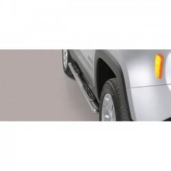 Coppia set pedane sottoporta laterali TUNING SUV JEEP RENEGADE 2014 2015 2016 2017 2018 Trailhawk acciaio INOX modello Grand ova