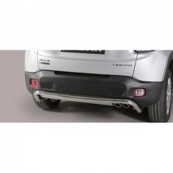 Barra protezione tubo posteriore  TUNING SUV JEEP RENEGADE 2014 2015 2016 2017 2018 Trailhawk acciaio INOX anche in nero opaco