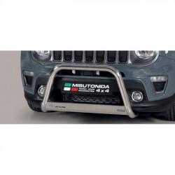 Bullbar anteriore OMOLOGATO JEEP Renegade 2018- acciaio INOX mod Medium anche nero opaco