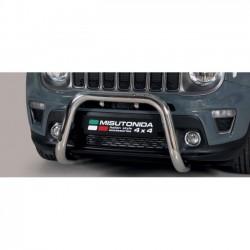 Bullbar anteriore OMOLOGATO JEEP Renegade 2018- acciaio INOX mod Medium anche nero