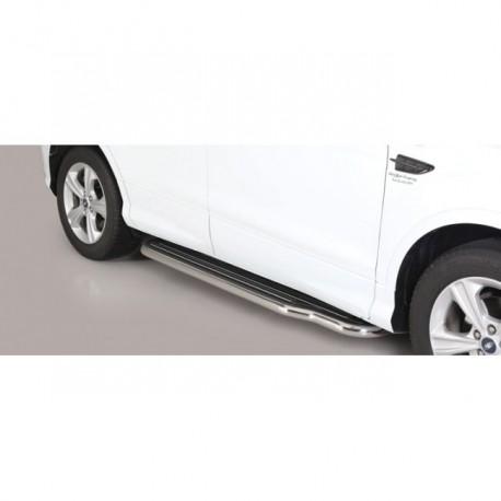 Coppia set pedane sottoporta laterali TUNING SUV lunga FORD KUGA 2017 2018 2019 2020 acciaio INOX anche nero opaco