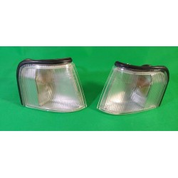 Coppia frecce anteriori trasparenti dx sx FIAT UNO II serie 1989- anche Turbo con portalampada BOSCH 0318222203 0318222204