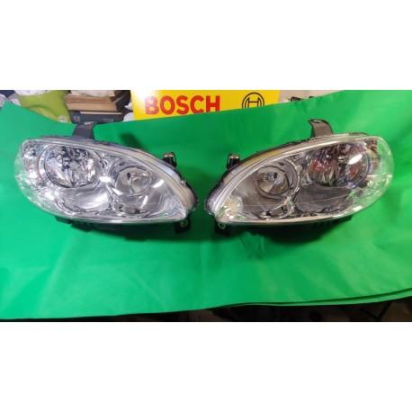 BOSCH coppia faro fanale anteriore dx sx FIAT CROMA 2005 2006 2007 cromato alogeno H7 oem 51801265 51801266 0318133213 031813321