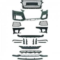 Paraurti anteriore TUNING AUDI TT 2014- look RS calandra nido d'ape per sensori per lavafari