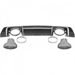 Diffusore estrattore paraurti posteriore  TUNING AUDI TT 2014- look RS singolo scarico dx sx completo