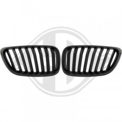 Coppia set griglie reni calandre radiatore TUNING look Sport M-Performance M2 per BMW Serie2 coupè cabrio F22 F23 anni 2013 2014