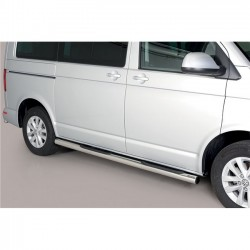 Coppia set pedane protezione sottoporta laterali TUNING VW Transporter T6 2015- T6.1 2019- Caravelle Multivan passo corto Design Grand anche nero opaco