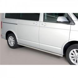 Coppia set pedane tubi protezione sottoporta laterali TUNING VW Transporter T6 2015- T6.1 2019- Caravelle Multivan passo corto