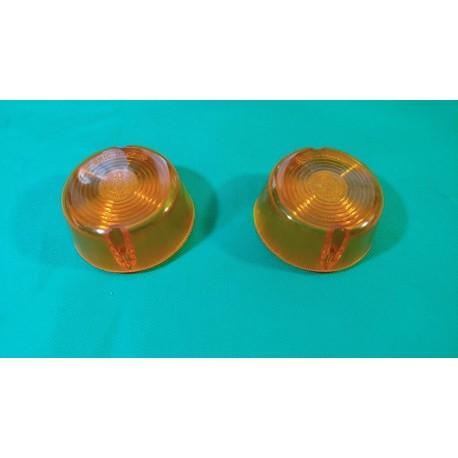 Coppia plastica freccia anteriore dx sx FIAT 238 anteriore arancio Aric 11808131