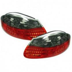 Set fari fanali posteriori TUNING per PORSCHE BOXSTER serie 986 1996-2004 a LED rossi neri
