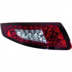 Set fari fanali posteriori TUNING PORSCHE 911 serie 997 2004-2008, LED rosso trasparente