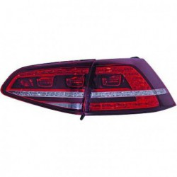 Set fari fanali posteriori GTI R look FULL LED tuning sportivi VW GOLF VII, 2012- berlina fondo rosso
